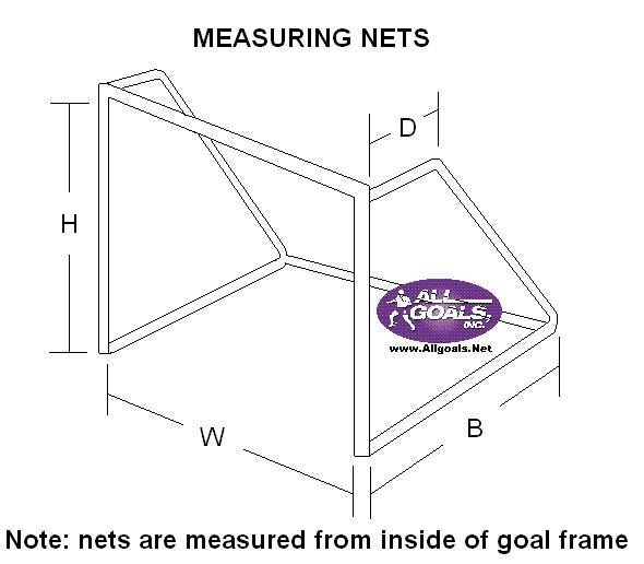 Keenso Soccer Net Full Size Soccer Netting Lightweight and Portable Soccer Netting Replacement Foldable Soccer Net Training Equipment